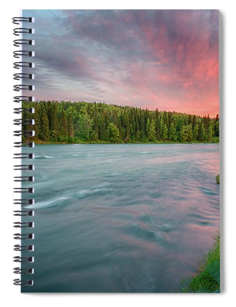 Kenai River Alaska Sunset Spiral Notebook