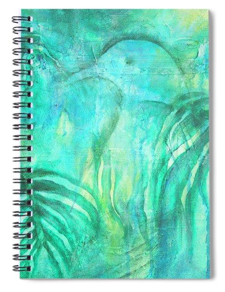 Kereru In New Zealand Foliage Spiral Notebook
