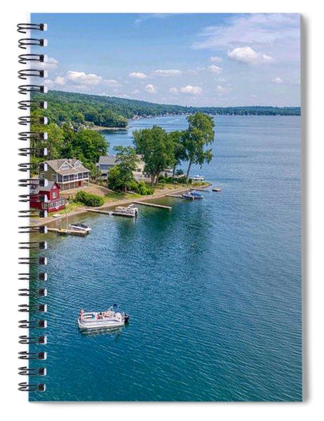 Keuka Boat Day Spiral Notebook