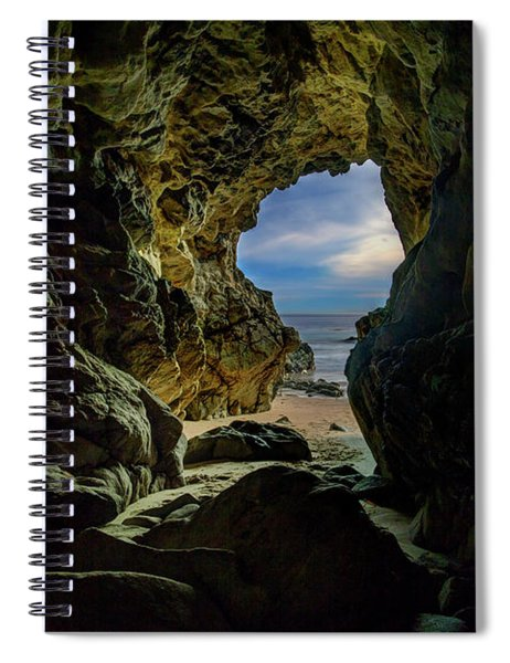 Keyhole Cave In Malibu Spiral Notebook