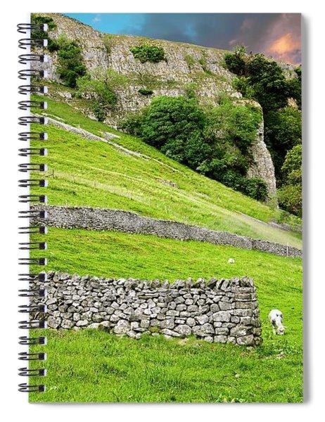 Kilnsey Crag, Wharfdale, Yorkshire Dales Spiral Notebook