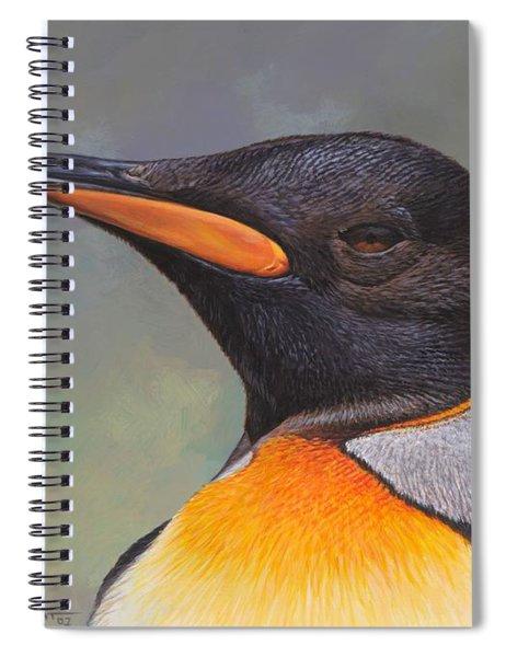 King Penguin Portrait By Alan M Hunt Spiral Notebook by Alan M Hunt