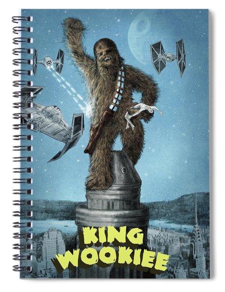 King Wookiee Spiral Notebook by Eric Fan