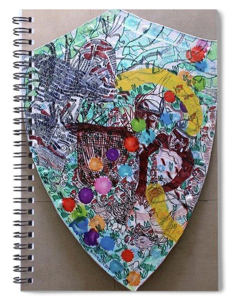 Kintu And Nambi Kintus Tasks Shield  Spiral Notebook