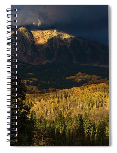 Spiral Notebook featuring the photograph Kiss Of Sunlight by John De Bord
