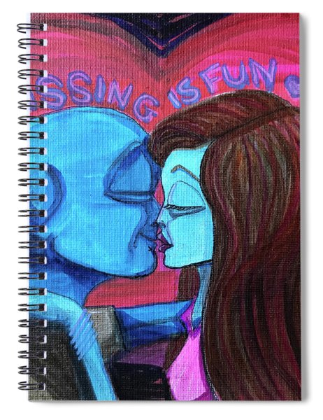 Kissing Is Fun Spiral Notebook