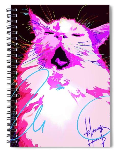 Kitty Yawn Pop Cat Spiral Notebook