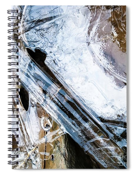 Spiral Notebook featuring the photograph Heart Of Ice by Atousa Raissyan