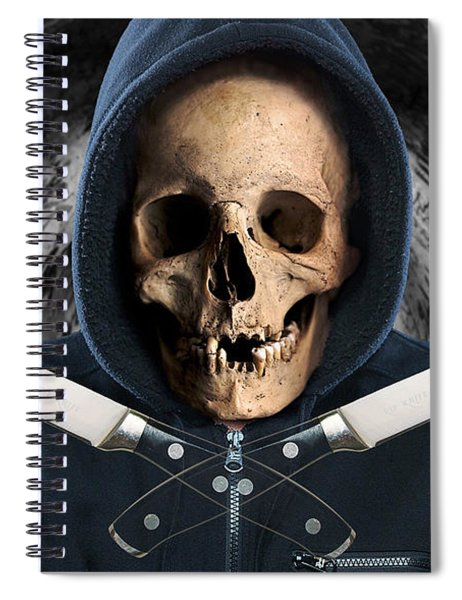 Spiral Notebook featuring the digital art Knife Crime Part 2 - The Next Victim by ISAW Company