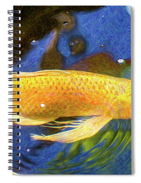 Koi Pond Fish - Best Friends - By Omaste Witkowski Spiral Notebook