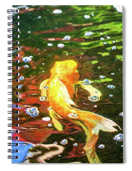 Koi Pond Fish - Colorful Surprises - By Omaste Witkowski Spiral Notebook