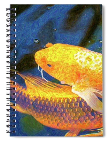 Koi Pond Fish - Free Love - By Omaste Witkowski Spiral Notebook