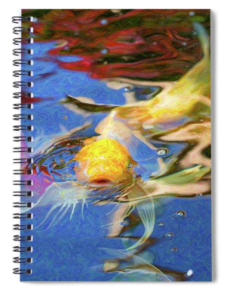 Koi Pond Fish - Friendly Enemies - By Omaste Witkowski Spiral Notebook