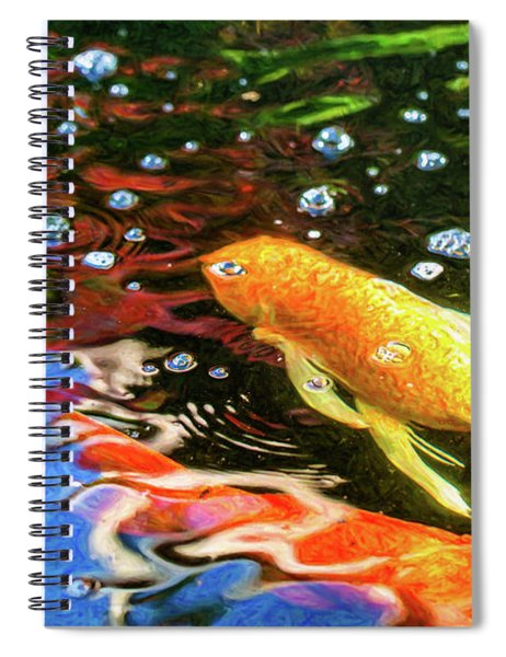 Koi Pond Fish - Glamorous Surprises - By Omaste Witkowski Spiral Notebook