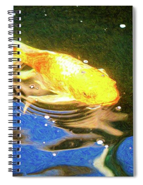 Koi Pond Fish - Golden Dreaming - By Omaste Witkowski Spiral Notebook