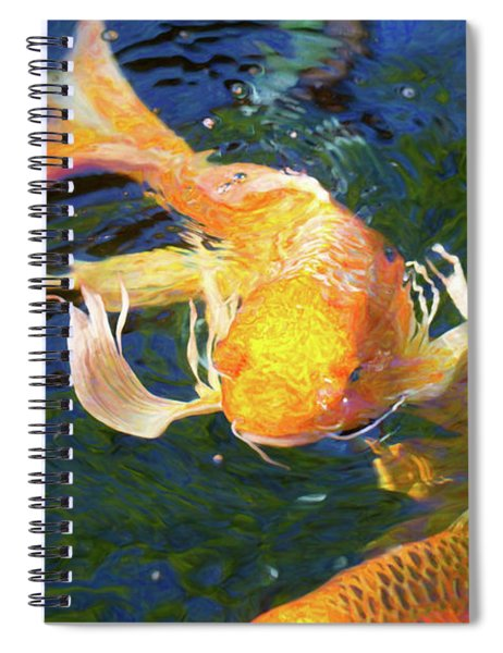 Koi Pond Fish - Golden Surprises - By Omaste Witkowski Spiral Notebook