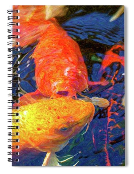 Koi Pond Fish - Kissing Sunshine - By Omaste Witkowski Spiral Notebook
