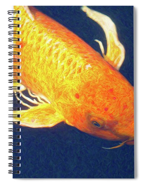 Koi Pond Fish - Liquid Delight - By Omaste Witkowski Spiral Notebook