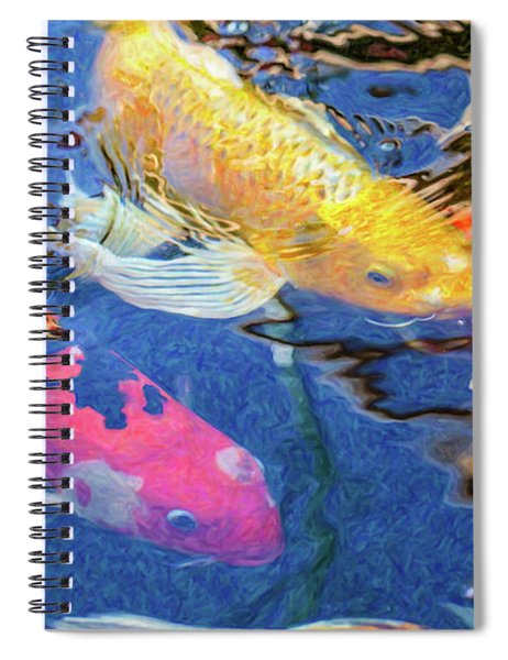 Koi Pond Fish - Making Plans - By Omaste Witkowski Spiral Notebook