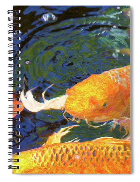Koi Pond Fish - Making Room - By Omaste Witkowski Spiral Notebook