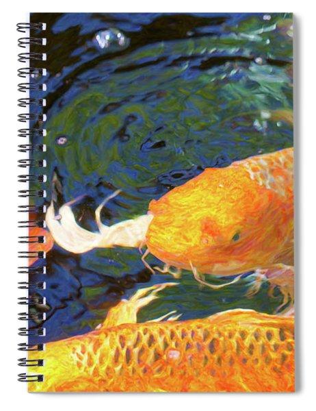 Koi Pond Fish - Making Room - By Omaste Witkowski Spiral Notebook
