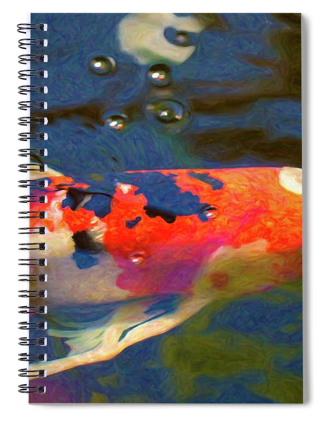 Koi Pond Fish - Painted Dreams - By Omaste Witkowski Spiral Notebook
