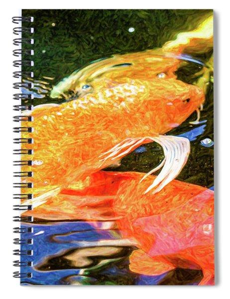 Koi Pond Fish - Passionate Fantasies - By Omaste Witkowski Spiral Notebook