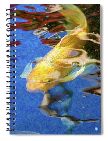 Koi Pond Fish - Playful Energies - By Omaste Witkowski Spiral Notebook
