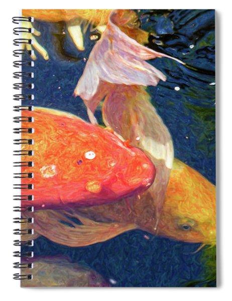 Koi Pond Fish - Pretty In Pink - By Omaste Witkowski Spiral Notebook