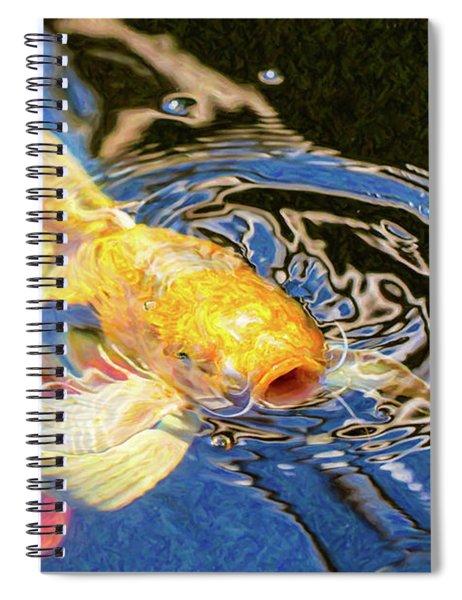 Koi Pond Fish - Pretty Pucker - By Omaste Witkowski Spiral Notebook