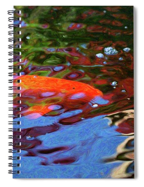Koi Pond Fish - Random Pleasures - By Omaste Witkowski Spiral Notebook