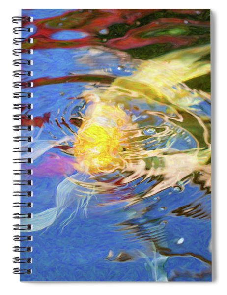 Koi Pond Fish - Swirling Emotions - By Omaste Witkowski Spiral Notebook
