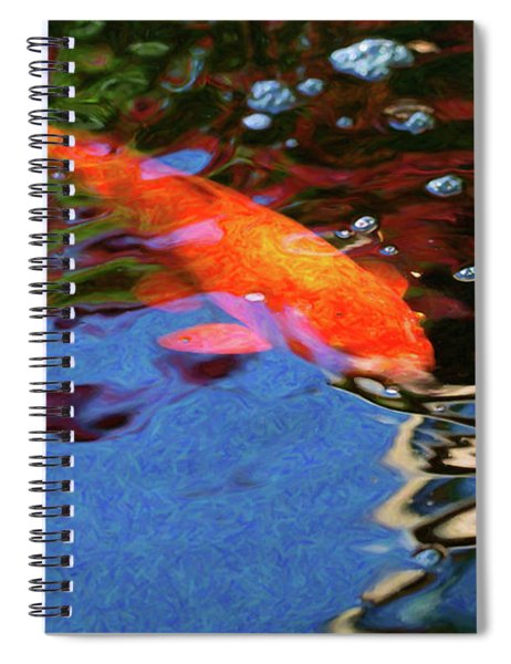 Koi Pond Fish - Vibrant Dreams - By Omaste Witkowski Spiral Notebook