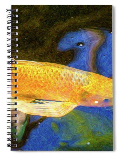 Koi Pond Fish - Winning Moves - By Omaste Witkowski Spiral Notebook