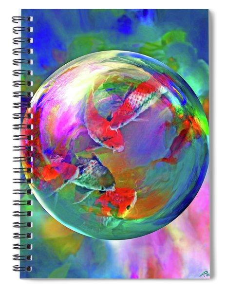 Koi Pond In The Round Spiral Notebook