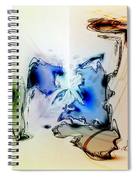 Kooky Abstract Spiral Notebook