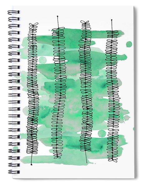 Kowhai Watercolor Spiral Notebook