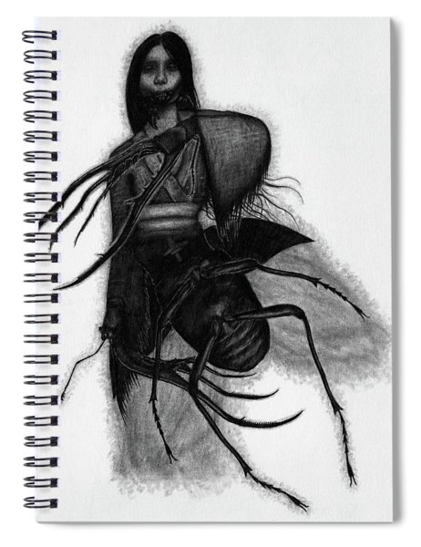 Kuchisake-onna The Slit Mouthed Woman Ghost - Artwork Spiral Notebook