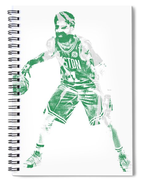 Kyrie Irving Boston Celtics Pixel Art 72 Spiral Notebook