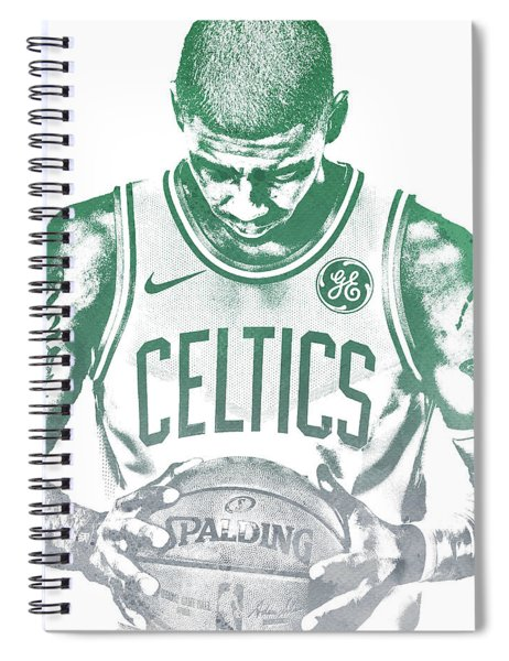 Kyrie Irving Boston Celtics Water Color Pixel Art 30 Spiral Notebook