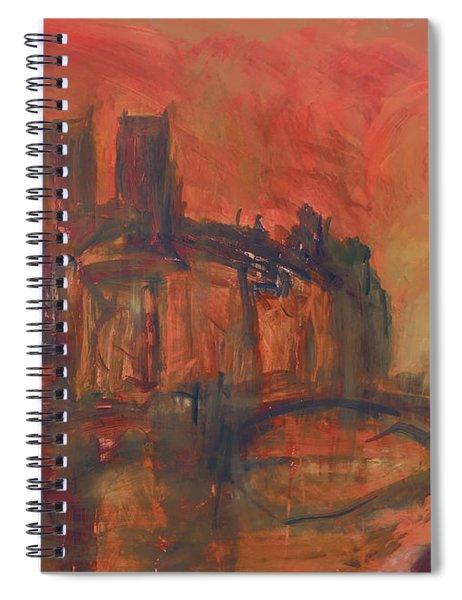 La Fleche Disparu Notre-dame Paris Spiral Notebook