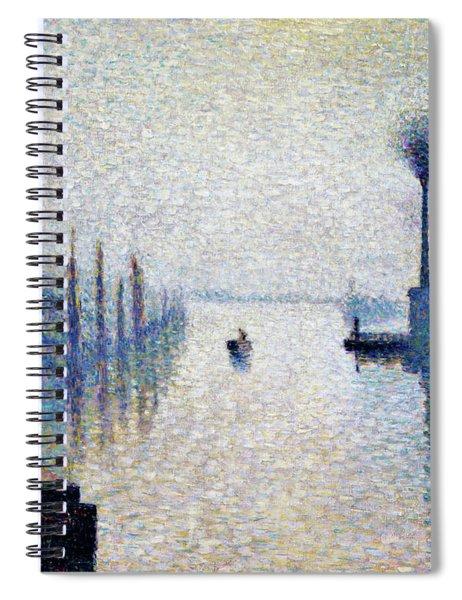 Lacroix Island, Rouen  - Digital Remastered Edition Spiral Notebook