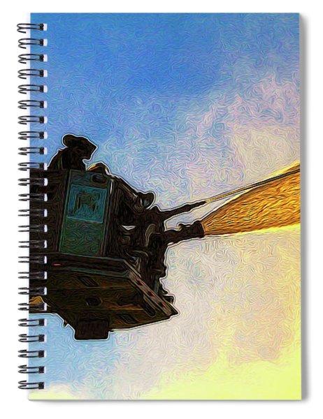 Ladder Operation At Dusk Spiral Notebook