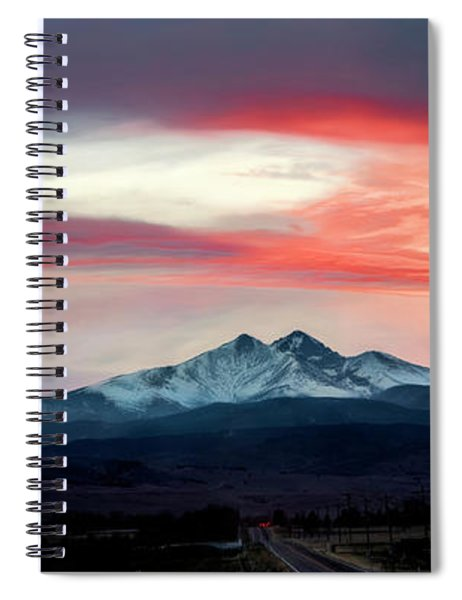 Ladies In The Sky Winter Sunset Spiral Notebook