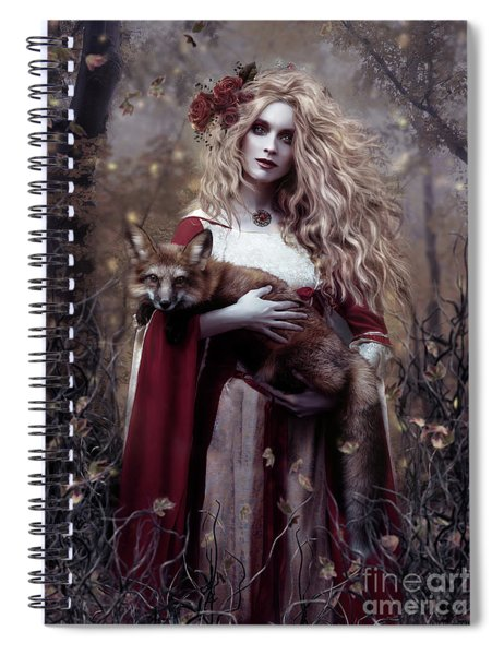 Lady And The Fox Spiral Notebook