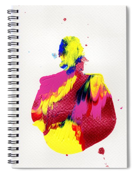 Lady Dressed In A Ballroom Gown Spiral Notebook