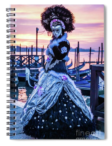 Lady In Black Spiral Notebook