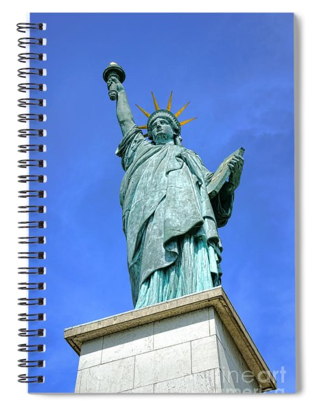 Lady Liberty In Paris Spiral Notebook