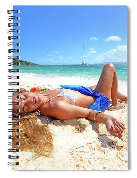 Lady Of The Leewards Spiral Notebook