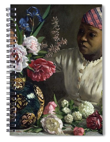 Lady With Peonies Spiral Notebook